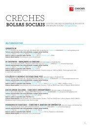 Lista de creches aderentes às Bolsas Sociais