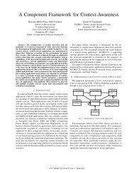 A Component Framework for Context-Awareness - Rossano.pro.br