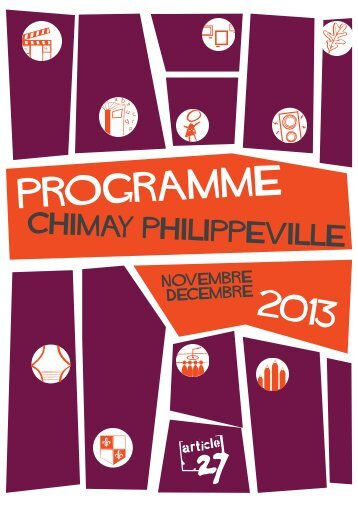 Programme Chimay -Philippeville Novembre - Article 27