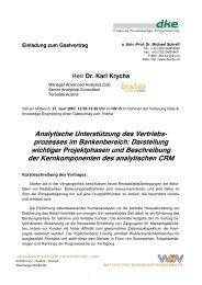 Analytische Unterstützung des Vertriebs - Data & Knowledge ...