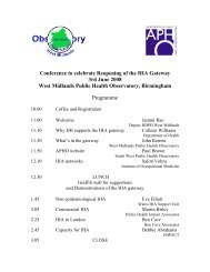 Conference to celebrate Reopening of the HIA Gateway 3rd June ...