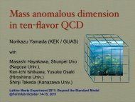 Mass anomalous dimension in ten-flavor QCD