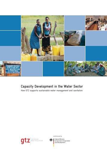 Capacity Development in the Water Sector - Gtz