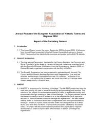 Annual Report 2004 - European Association of Historic Towns ...
