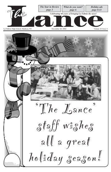 December 2002 - Malcolm Shabazz City High School, Madison WI
