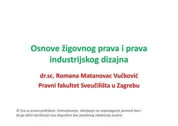 Osnove žigovnog prava i prava industrijskog dizajna - Sveučilište u ...