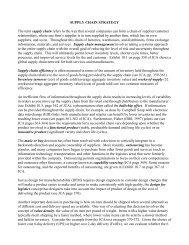 Supply Chain Strategy - Ashland University