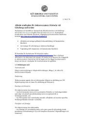 Allmän studieplan för doktorsexamen i historia - Humanistiska ...