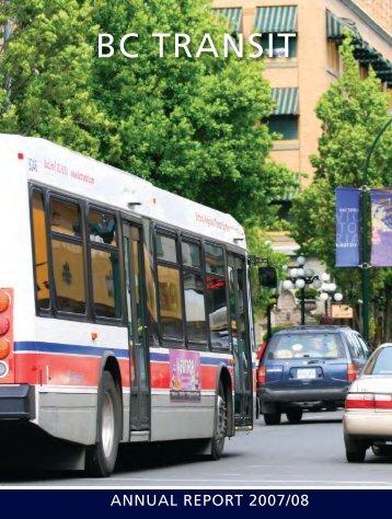 BC Transit Annual Report 2007/08