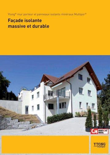 Façade isolante massive et durable - Ytong