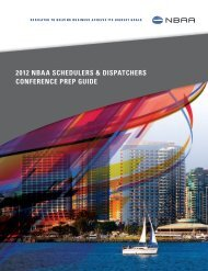 NBAA Schedulers & Dispatchers Conference Prep Guide