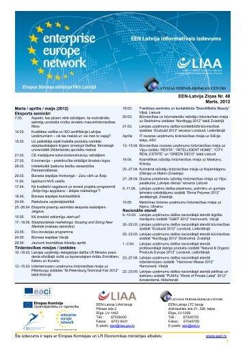 1 EEN-Latvija Ziņas Nr. 48 Marts, 2012