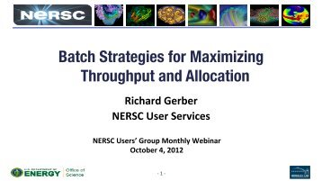 Batch Strategies for Maximizing Throughput and Allocation - NERSC