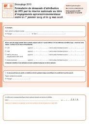 Formulaire de demande d'attribution de DPU par la réserve ...