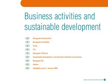 Business activities and sustainable development - Bouygues