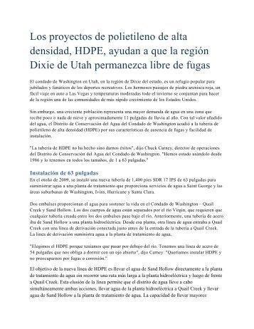 Los proyectos de polietileno de alta densidad, HDPE, ayudan a que ...