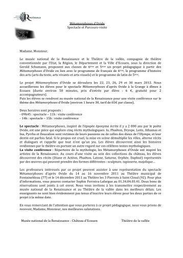 Métamorphoses d'Ovide (pdf)