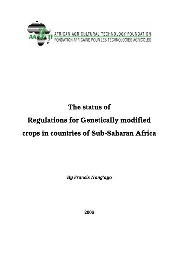 2006 to assess the status of NBFs in African countries