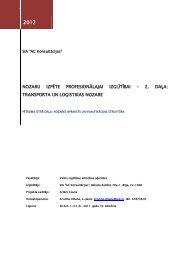transporta un loģistikas nozare - VIAA