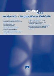 Kunden-Info – Ausgabe Winter 2009/2010 - swissbroke
