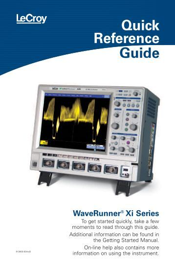 Lecroy WaveRunner Oscilloscope Quick Reference Manual