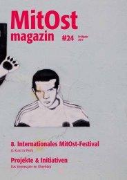 Projekte & Initiativen 8. Internationales MitOst-Festival - MitOst e.V.