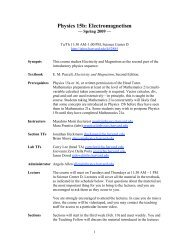 Physics 15b: Electromagnetism