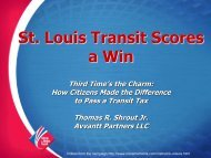 Learning from St. Louis. - Transit for Livable Communities