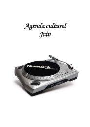 Agenda culturel Juin