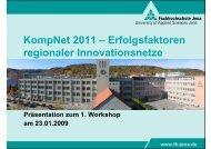 KompNet 2011 – Erfolgsfaktoren regionaler Innovationsnetze
