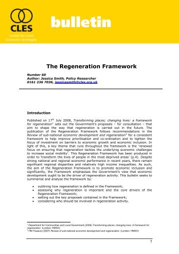 Bulletin 60: The Regeneration Framework.pdf - CLES