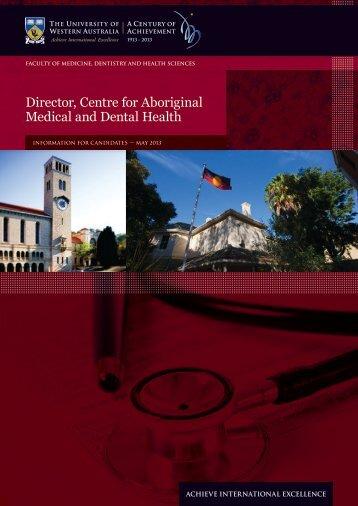 Director, Centre for Aboriginal Medical and Dental Health