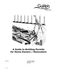 Residential Homeowners Guide to Building Permits - City of Guelph