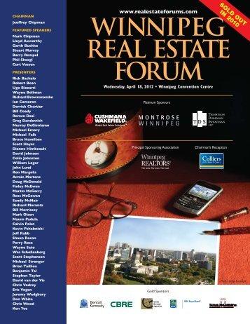 12-010 (Winnepeg REF Broch):08-001 - Real Estate Forums