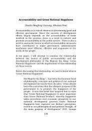 Accountability and Gross National Happiness Dasho ... - SASANet