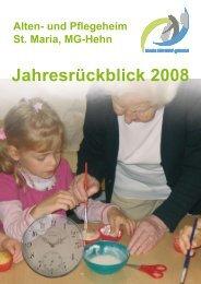 Jahresrückblick 2008 - und Pflegeheim St. Maria