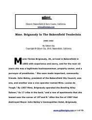 Mme. Brignaudy in the Bakersfield Tenderloin, 1905 ... - Gilbertgia.com