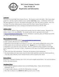 2012 Jesuit Summer Session June 18-July 20 Registration and ...
