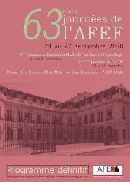 Programme définitif (PDF) - Afef