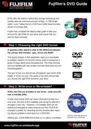 Fujifilm DVD Guide