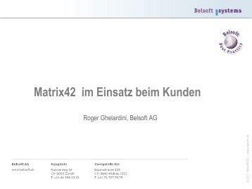 Matrix42 im Einsatz beim Kunden - Belsoft AG