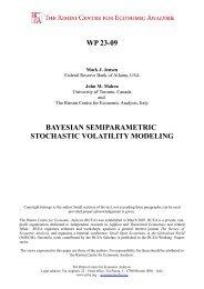 Bayesian semiparametric stochastic volatility modeling - The Rimini ...