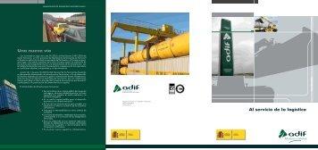 Al servicio de la logística Una nueva vía - Adif