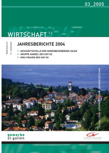 Jahresbericht 2004 - Kantonaler Gewerbeverband St.Gallen