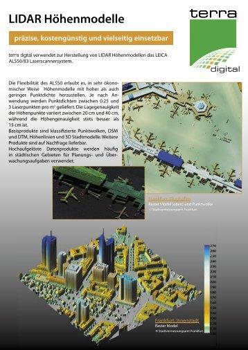 LIDAR Höhenmodelle