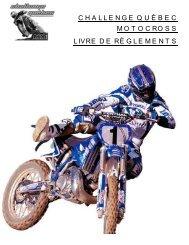 Mise à jour du livre de règlements. - Challenge Québec Motocross