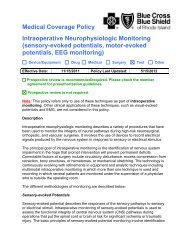 Medical Coverage Policy Intraoperative Neurophysiologic Monitoring