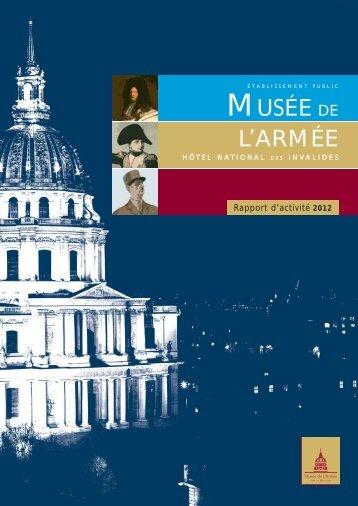 Télécharger le rapport d'activité 2012 - Musée de l'Armée