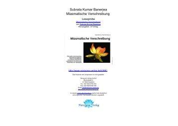 Subrata Kumar Banerjea Miasmatische Verschreibung