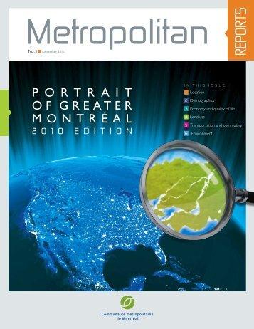 Portrait of the Greater Montréal, 2010 edition - Communauté ...